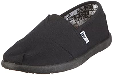 Toms - Summer Classics Youth Shoes In Black Canvas 12 M US Little Kid (BLACK)