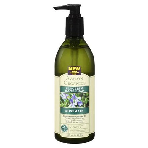 Avalon Organics Rosemary Glycerin Hand Soap 12 Ounce