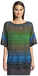 M Missoni Women's Patterned Tee, Green/Multi, 40 IT/6 US