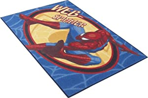 spiderman web spinner rugs official kids bedroom mats 80x120cms free