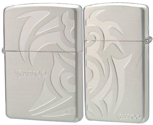 ZIPPO (Zippo) oil lighter NO200 NO1600 TATTOO pairs silver 63310198