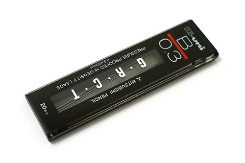 Uni Hi-Uni Hi-Density Pencil Lead - 0.3 Mm - B