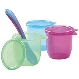 Amazon.com : JoJo Maman Bebe Baby Food Pots with Weaning Spoon, 3