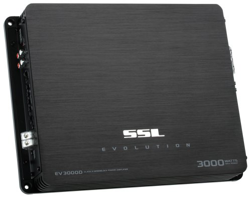 Ssl Ev3000D Evolution 3000-Watts Monoblock Class D 1 Channel 1 Ohm Stable Amplifier With Remote Subwoofer Level Control