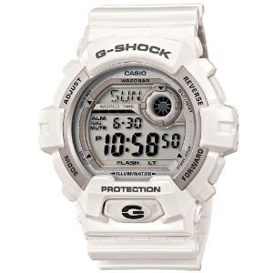 Men Casio G8900A-7 G-Shock Black Dial White Resin G-Shock