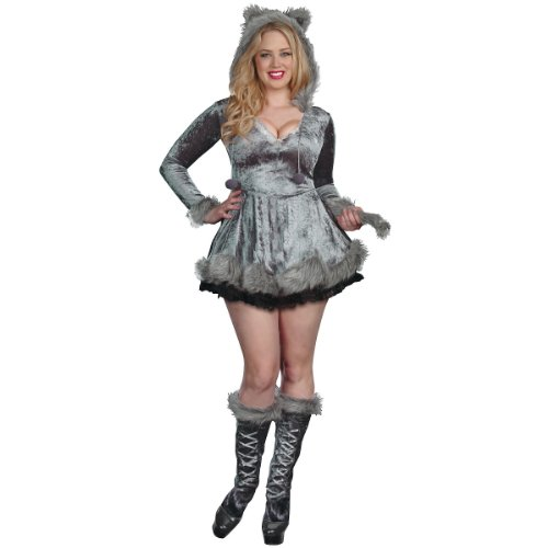 Big Bad Sexy Wolf Costume - Plus Size 3X/4X - Dress Size 18-20