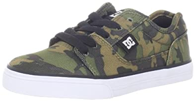 DC Kids Bristol SP Skate Shoe (Little Kid/Big Kid),Black/Camo,6.5 M US Big Kid