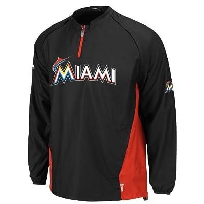 MLB Miami Marlins Gamer Jacket, Black/Red