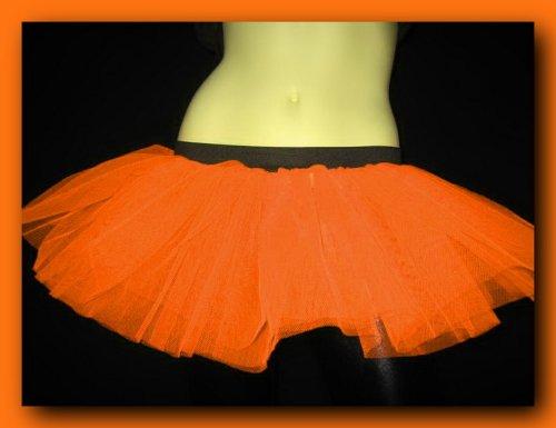 Uv Neon Orange Mini Tutu Skirt Petticoat Punk Rave Dance Fancy Costume Dress Party Free Shipping USA