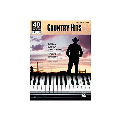 Alfred 40 Sheet Music Bestsellers: Country Hits Book front-362186