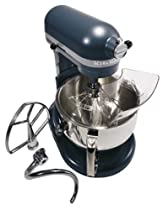 Big Sale KitchenAid KP26M1XBS Professional 600 Series 6-Quart Stand Mixer, Blue Steel