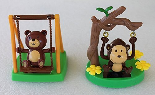 Solar Swinging Monkey and Bear Set/Toys/Novelty/Birthday /Favors/Party Supplies