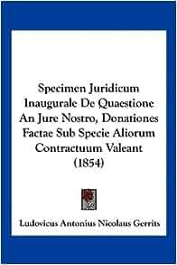 Inaugurale De Quaestione An Jure Nostro, Donationes Factae Sub Specie