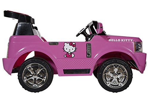 Hello Kitty 8801-60S 12V Light Up SUV Ride-On, Pink/Black/White