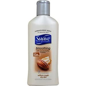 Suave Smoothing with Cocoa Butter & Shea Body Lotion, 10 Fluid Ounce