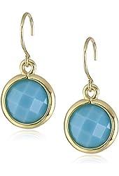 """Anne Klein """"Beacon"""" Gold Drop Earrings"""