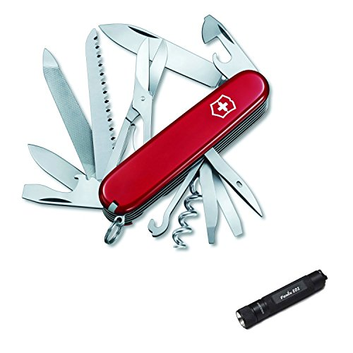 Victorinox 53861 Swiss Army Ranger Pocket Knife With Keychain Led Flashlight