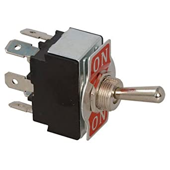 Switch (On-On) Double Pole Double Throw Lever Quick Connect 15 Amp