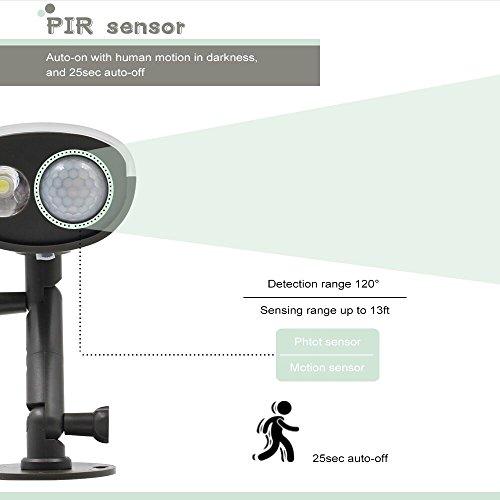 3 PACK Wireless Solar Motion Sensor LED Security Light W Photocell PIR Moti