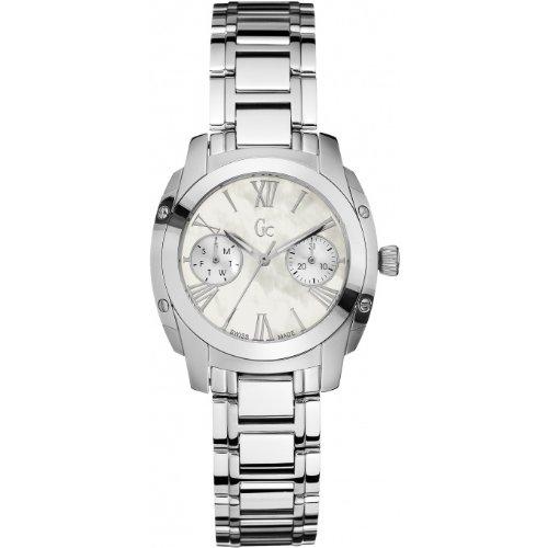 Guess G58001L1 - Reloj para mujeres, correa de acero inoxidable color plateado