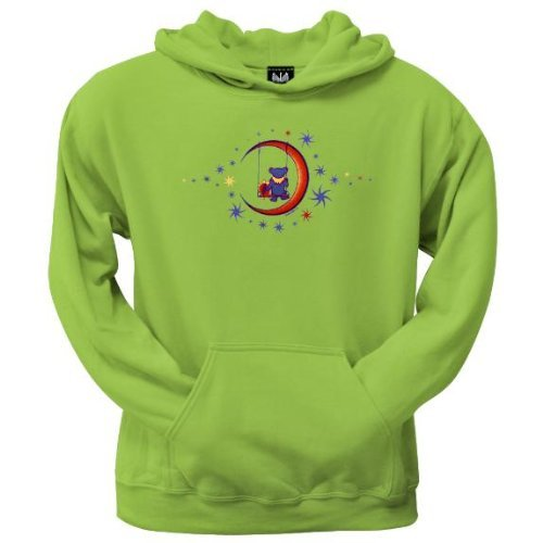 Old Glory Mens Grateful Dead - Moon Swing Pullover Hoodie Green - Large Light Green