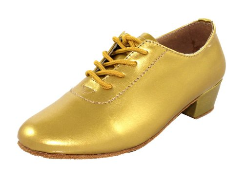 Msmushroom Kid Boys Patent Leather Competition Dance Shoes 1 1/3