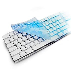 Rasfox External Keyboard Skin for Apple iMac, MacMini, Power Mac G5, Xserve - Color Blue Transparent