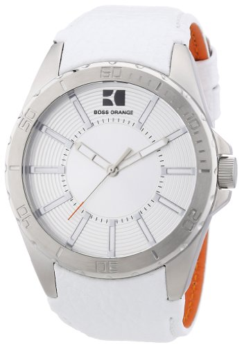 Boss Orange Men's Quartz Watch 1512865 1512865 with Leather Strap