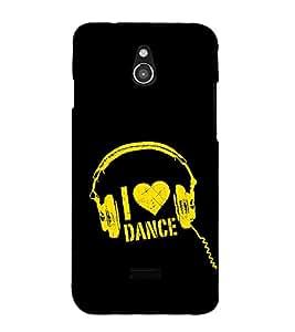 I Love Dance 3D Hard Polycarbonate Designer Back Case Cover for InFocus M2