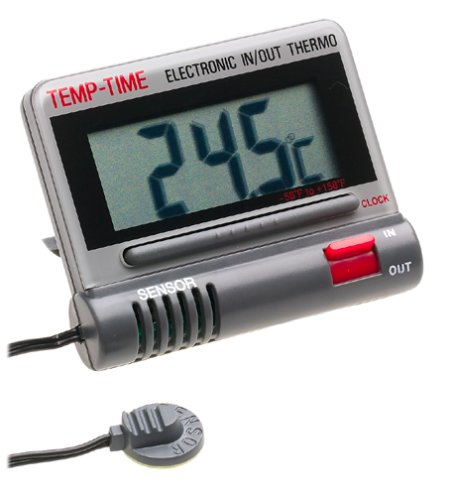 CDN DTC1-G Digital Thermometer & Clock, Gray