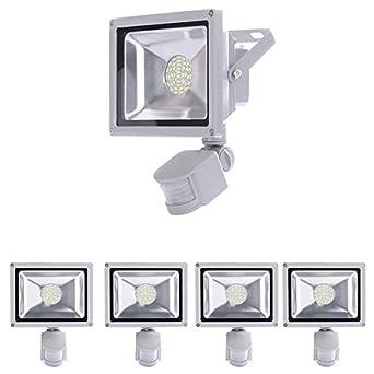 garage 3000K jardin Imperm/éable IP66 10packs 30W LED Projecteur D/étecteur de Mouvements couloir Blanc chaud Projecteur LED exterieur de s/écurit/é id/éal pour /éclairage public