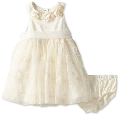 Nannette Baby-Girls Infant 2 Piece Knit Dress And Panty, Beige, 18 Months