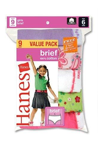 Hanes Girls Briefs Assortment (9-Pack)