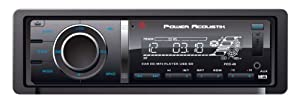 POWER ACOUSTIK PCD-40 Single DIN CD/MP3 Source Unit with 32 GB SD/USB Playback