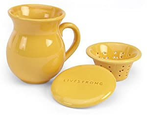 LIVESTRONG by Chantal Tea Mug with Infuser, Glossy Golden Yellow