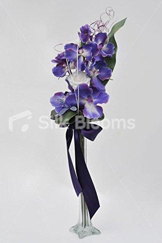 Modern orchidée violette & Iris Tableau d'affichage avec Cristal Lys