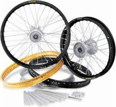 Pro-Wheel Rear Motorcycle Rim - 14x1.60 - Black, Position: Rear, Color: Black 146CRFBK