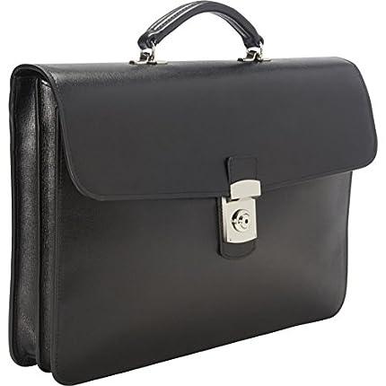 Royce Leather Kensington Single-Gusset Briefcase