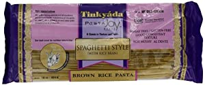 Tinkyada Brown Rice Spaghetti with Rice Bran, 16-Ounce Packages (Pack of 12)