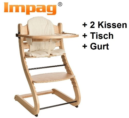 Design Highchair - with two seat cushion S-Line nature