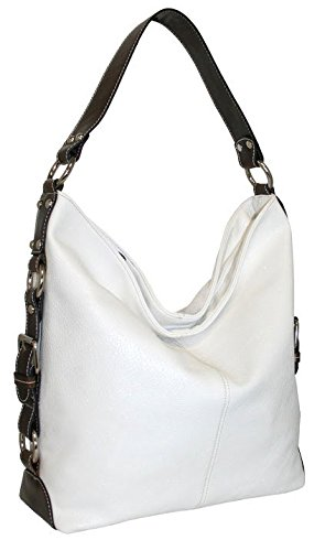 punto-uno-top-zip-bucket-bag-with-gusset-belting-detail-white