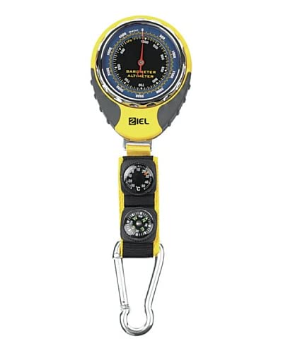 Ziel Altimetro Pocket Compass Thermometer 301125 Grigio/Giallo/Nero
