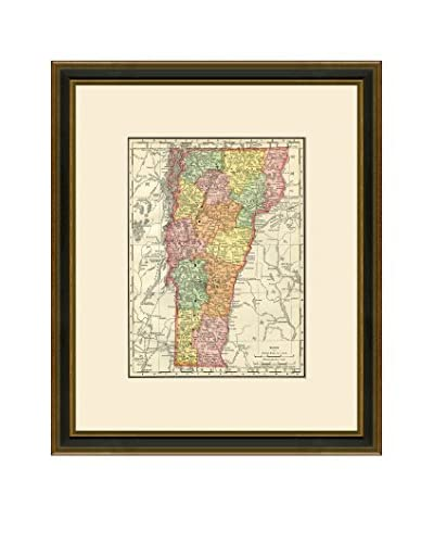 Antique Map of Vermont, 1886-1899