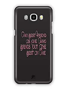 YuBingo My Best Friend Brings Out Best in Me Mobile Case Back Cover for Samsung Galaxy J5 2016
