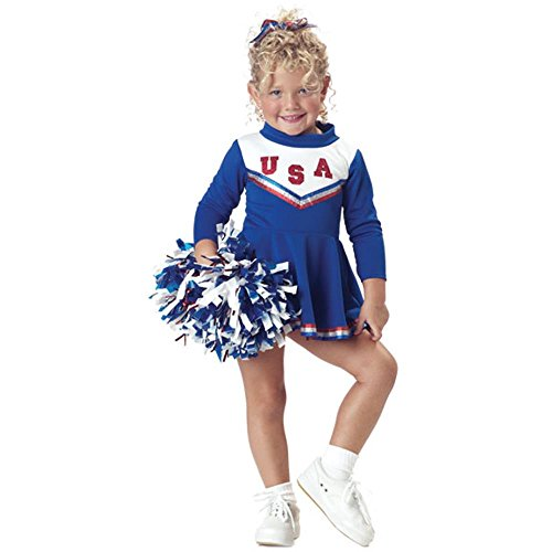 Child's Toddler Blue Cheerleader Costume (2-4T)