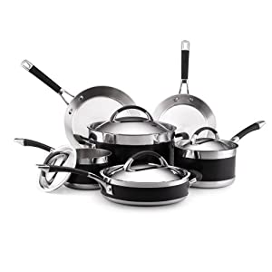 Best Cookware Set - Anolon Ultra Clad Stainless Steel 10-Piece Cookware Set Review