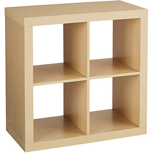 Versatile Better Homes and Gardens Square 4-Cube Organizer, Multiple Colors (Birch) (Corner Cabinet Living Room compare prices)