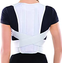 Posture Corrector Brace - White, Large, Waist/Belly 36\