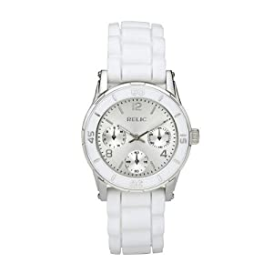 Relic by Fossil Ladies Multi-Function White Strap Quartz Dress Watch ZR15582