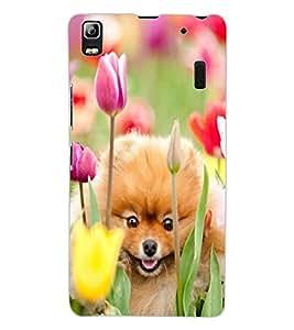 ColourCraft Cute Puppy Design Back Case Cover for LENOVO A7000 PLUS